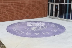 Bomanite Alloy was installed here with exposed, decorative aggregates that help to create a durable paving surface while adding a unique, custom finish and beautifully distinctive design.