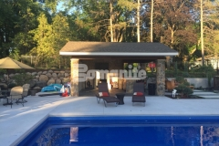 Bomanite Revealed Exposed Aggregate was installed here to create this spectacular pool decking and this system will provide increased surface and slip resistance while reducing heat island effect, making this decorative concrete pool deck walkable and not hot to the touch.