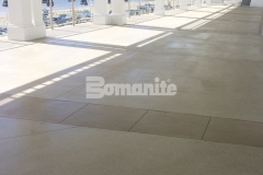 Approximately 11,200 square feet of walkways, main dining areas, and patios were created for the Beach Club area at Westchester Country Club using Bomanite Revealed, which was skillfully installed by our colleague Beyond Concrete to provide an extremely durable surface that will withstand the environmental challenges of being beachside.