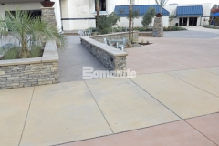 Bomanite Sandscape Texture decorative concrete was installed here to create a cohesive hardscape surface that complements the exterior design elements at CrossCity Christian Church.