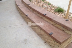 Durability and unique design detail were added to the hardscape surfaces throughout Centennial Center Park with the installation of Bomanite Slate Texture stamped concrete, which was perfect to make this space not only a place to play, but a place to learn.