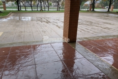 The detailed installation of the stylish and functional stamped concrete driveway and walkways at the Residence Condominiums in Clayton, MO by our associate Musselman & Hall Contractors won them the Gold Award for Best Bomanite Imprint Systems Project for their creativity, quality, and craftsmanship.