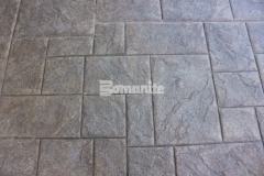 Long lasting paving and flooring with minimal maintenance requirements can be achieved by utilizing Bomanite Imprint Systems and this Bomacron Medium Ashlar Slate pattern is perfect to create an English slate textured hardscape surface.