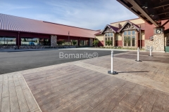 Bomel Construction expertly installed Bomanite Imprinted Concrete using a custom made Bomacron Boardwalk stamp to add a rustic wood texture to the hardscape walkways at the Great Wolf Lodge.