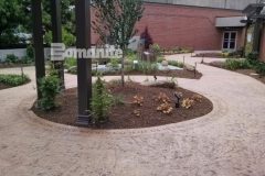 The Dr. Sanford and Lois Benjamin Healing Garden was beautifully enhanced using Bomanite Bomacron imprinted concrete and landscape architecture by BlocDesign to create a therapeutic haven that was designed specifically to aid healing of body and spirit for patients, visitors, and staff at CMC Mercy Hospital.