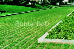 Bomanite Partially Concealed Grasscrete Concrete with Reusable Formers