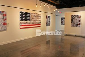 When the requirement is a a decorative concrete floor that shines and reflects, the only choice is Bomanite Custom Polishing System using Bomanite Patene Teres.