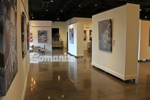 The American Fallen Soldier Project Gallery is elegant because of the use of Bomanite Custom Polishing System using Bomanite Paten Teres in Bomanite Orchid.